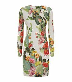 Matthew Williamson Cactus Garden Jersey Dress
