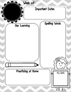 Updated  This Is A Two Page Template For A Classroom