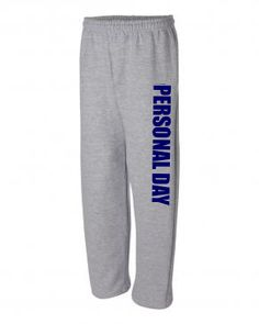 Calling in sick when you aren't?? Take a personal day like this customer did! #customizedworld #customsweatpants
