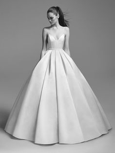 This **Alex Perry Bridal** Suzy Satin Embellished Gown Fall Wedding Dresses, Elegant Wedding Dress, Bridal Dresses, Dresses Short, Cute Dresses, Beautiful Dresses, Dresses Dresses, Weeding Dress, Embellished Gown