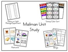 Mail Carriers Unit printables