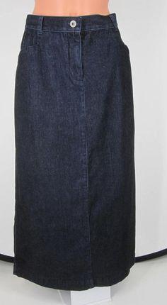 SOLD Skirt Denim  Cotton Jean Christopher & Banks  #ChristopherBanks #StraightPencil