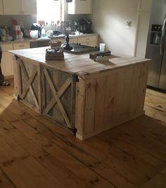 Barn door -Kitchen table  Pine wood and ruff cut lumber -Steven Skellett Royal Barns restoration. 1 (740) 541-3021 (740)662-5016