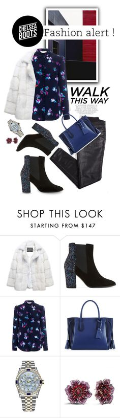 """Kick It: Chelsea Boots"" by shortyluv718 ❤ liked on Polyvore featuring Lilly e Violetta, Dune, Rebecca Taylor, Longchamp, Rolex, Effy Jewelry and chelseaboots"