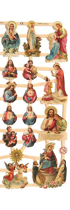 Victorian religious images from Germany for Christmas crafts