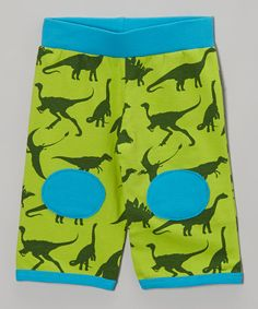 Take a look at this Shinobi Baby Green & Blue Dinosaur Padded Pants - Infant & Toddler on zulily today!