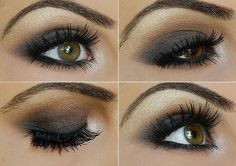 Brown smokey eye. Great evening or day look.