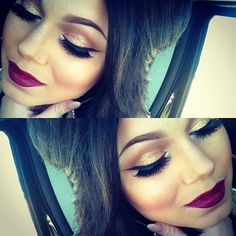 Have this lipstick. I just need the eye look :)
