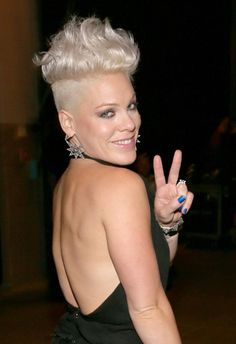 Pink Singer | Pink Singer Pink poses backstage during the 2012 iHeartRadio Music ...