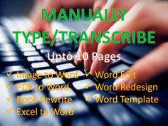 dr50446: transcribe anything upto 10 pages in Word for $5, on fiverr.com
