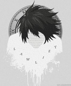 Death Note L Lawliet Mello Near Yagami Light dngif sengif senedit minimalist series