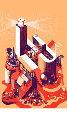 Axonometric Drawings by Icinori – SOCKS. Illustration Design Graphique, Art Et Illustration, Gig Poster, Lu Nantes, Nantes France, Lieu Unique Nantes, Axonometric Drawing, Singer Songwriter, Indie