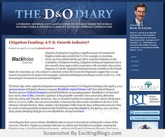 The D & O Diary : Directors and Officers Liability and Insurance : The D & O Diary : Kevin LaCroix : Securities Laws, Corporate Fraud, D & O Litigation - Click to visit blog:  http://1.33x.us/Ix6f2K