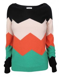 wouldn't want long sleeves, but I like the big blocks of color and chevron.