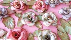how to make paper roses - YouTube