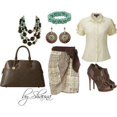 Peoni blouse and silk wrap skirt