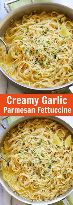 Creamy Garlic Parmesan Fettuccine – one-pot pasta with creamy garlic sauce and topped with Parmesan cheese. Dinner takes 20 mins   rasamalaysia.com
