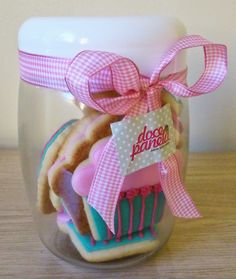 Doce Panela - Vidro de biscoitos artísticos