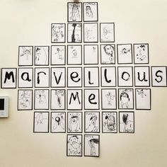 "Based off the book ""Marvelous Me""? Reggio Emilia Classroom, Reggio Inspired Classrooms, Reggio Classroom, Classroom Organisation, New Classroom, Preschool Classroom, Preschool Art, Early Years Classroom, Birthday Display In Classroom"