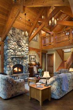 Washington State Timber Home - Timber Home Living