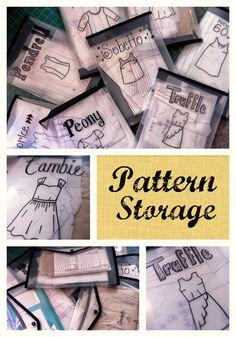 My sewing pattern storage idea - Crafting a Rainbow