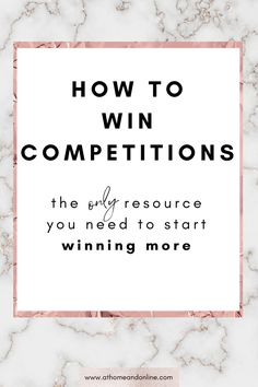 Entering online competitions is a fun and easy way to boost your income. I use this one resource to win a lot more competitions than I did before. If you want to know how to win competitions, then you need this guide in your life. It seriously will change your comping game!