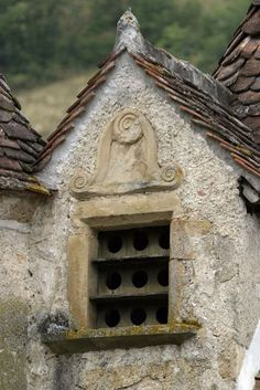 Dovecote in gable.