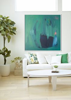 GICLEE print GREEN abstract print of painting with by LolaDonoghue