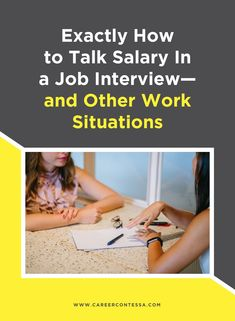 How do you talk about salary in a job interview?  Here's how to tackle tricky work situations. Group Interview, Ask For A Raise, Phone Interviews, Career Development, Communication Skills, Management Tips, Career Advice, Job Search, Leadership