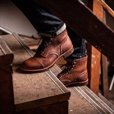 """e3cc7a9ee93 Men's Fashion on Instagram: """"Red Wing 8111 Iron Ranger Amber Harness  Leather Boot , $319 USD @menboots @redwingheritage #madeinusa #mensfashion  #mensstyle ..."""
