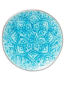 FLOW CRACKLE assiett turkos   Plates   Plates   Glas Porslin   Inredning   INDISKA Shop Online