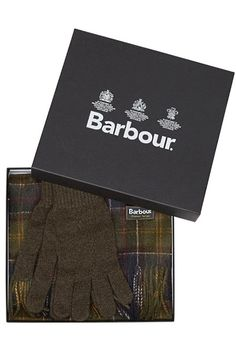 Barbour Scarf and Glove Gift Box