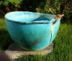 Keramikkbolle av Randi A. Wabi Sabi, Ceramic Vase, Vases, Bowls, Ceramics, Kunst, Pottery Vase, Serving Bowls, Ceramica