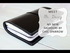 ChicSparrow Personal Size Mr. Darcy Leather Traveler's Notebook Walk Through - YouTube