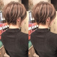 Pin on ヘア Pin on ヘア Short Hair Syles, Short Hair Cuts, Short Bob Hairstyles, Cool Haircuts, Pixie Haircut Thin Hair, Asian Short Hair, Haircut And Color, Hair Hacks, Hair Inspiration