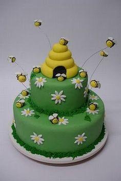 Bee themed cake.
