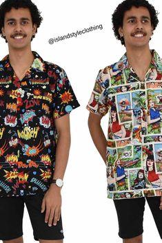 20a5439b4aff Mens Comic & Kapow Hawaiian Shirt - wicked party shirts for casual wear,  parties, cruising or bucks nights. #hawaiianshirts #magnumsshirt  #partyshirts ...
