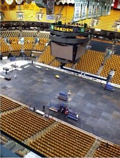 Changing the Garden for Celtics Td Garden, Boston Bruins, Hockey, Basketball Court, Field Hockey, Ice Hockey
