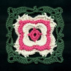 Dogwood Blossom Square -- Free crochet pattern