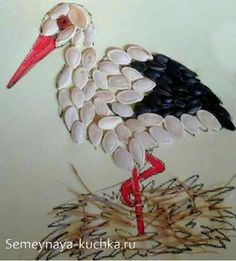 - Easy to make - Requisit Paper Crafts For Kids, Preschool Crafts, Diy For Kids, Diy And Crafts, Arts And Crafts, Seed Art, Art Drawings For Kids, Shell Crafts, Rock Crafts