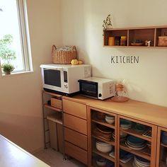 女性で、3LDKの中古住宅/シンプルキッチン/マリメッコヴィヒキルース/壁に付けられる家具/セリア…などについてのインテリア実例を紹介。「kitchen♡」(この写真は 2015-10-03 20:08:03 に共有されました)