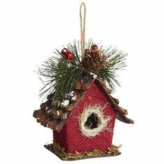 My Xmas Style 2013 - Burlap Birdhouse Ornament