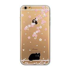 For Apple iPhone 6 6s Plus 4 4S 5 5S SE 5C 6Plus Case Soft TPU Silicon Transparent Thin Cover Black Cat Owl Rabbit Animal Case