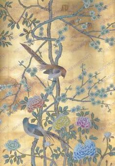 hand painted wallpaper :: chinoiserie wallpaper :: silk wallpaper :: chinese wallpaper :: hand painted silk wallpaper :: hand painted chinese wallpaper :: bespoke wallpaper and custom service - paint and art Chinese Wallpaper, Silk Wallpaper, Hand Painted Wallpaper, Chinoiserie Wallpaper, Chinoiserie Chic, Painting Wallpaper, Home Wallpaper, Silk Painting, Wallpaper Wallpapers