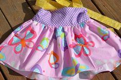 Little Lady's Butterfly Garden halter swing top by averymacroo, $35.00