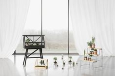 Bangkok studio Atelier has created a miniature greenhouse that is small enough for indoor use to encourage owners to bring greenery into their houses. The greenhouse is a design object with artistic ambitions, a sculpture that makes room for nature. Planter Box With Trellis, Metal Planter Boxes, Window Planter Boxes, Miniature Greenhouse, Home Greenhouse, Wabi Sabi, Décoration Urban Jungle, Oasis, Design House Stockholm