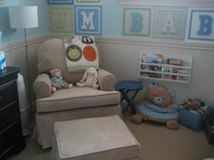 Great way to add an alphabet to baby's wall.