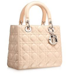 Pinky beige 'Lady Dior' bag