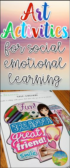 Art activities for social emotional learning! Ideas to help build confidence, self-awareness, emotional regulation, and more.