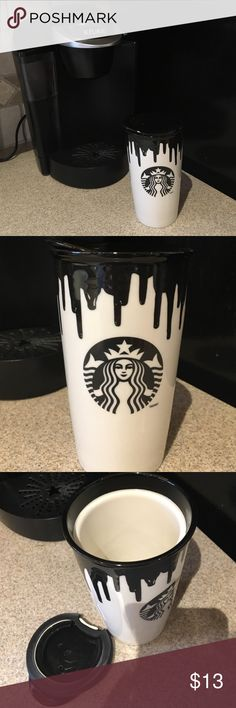 Limited Edition Starbucks Ceramic Travel Mug This is a really creative travel mug. So cute and keeps things super warm. Great for the office or heading to class! Starbucks Accessories